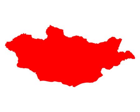 Map of Mongolia Ilustrace