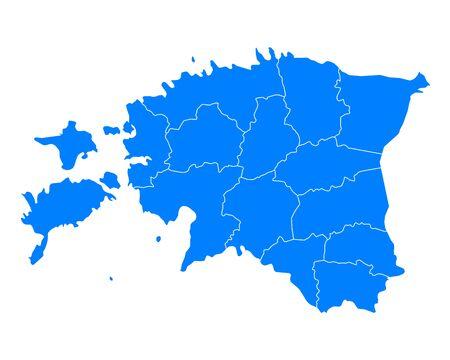 에스토니아지도
