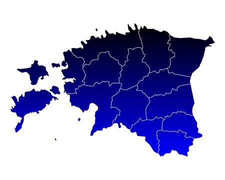 Map of Estonia illustration. 向量圖像