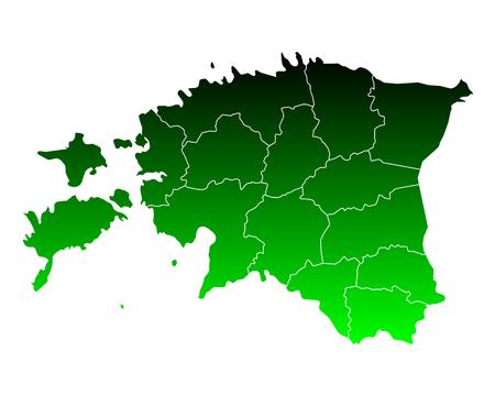 Map of Estonia on white background, vector illustration. 向量圖像