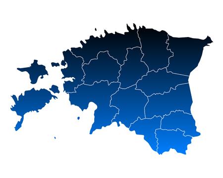 Kaart van Estland vectorillustratie