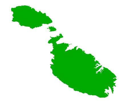 malta: Map of Malta vector illustration