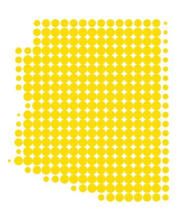 Map of Arizona 向量圖像