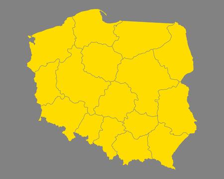 Kaart van Polen Vector Illustratie
