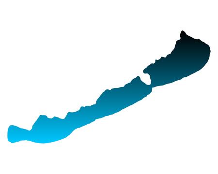 Carte du lac Balaton Vecteurs