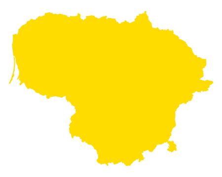 Kaart van Litouwen Stock Illustratie