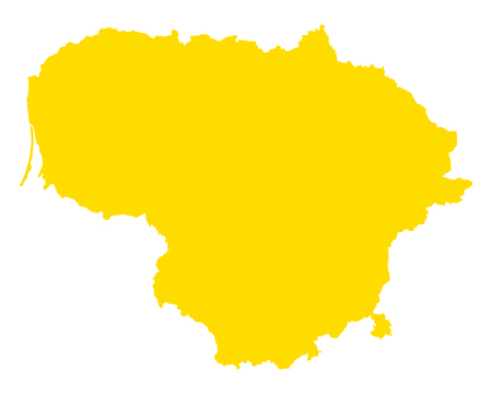 Map of Lithuania Ilustrace