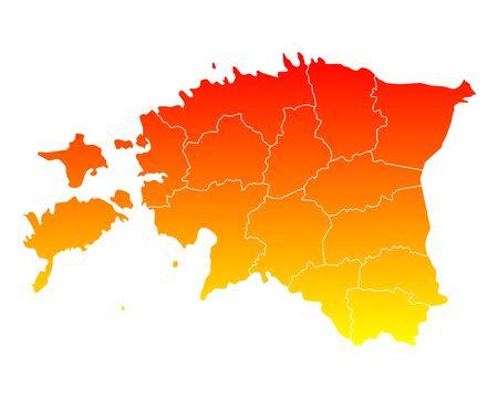 Map of Estonia 向量圖像