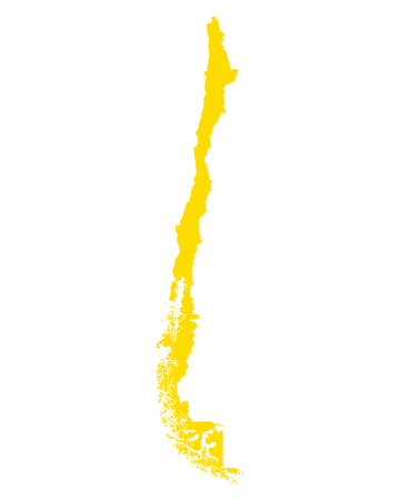 Map of Chile 向量圖像