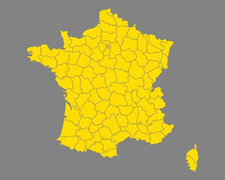 フランス 地図  イラスト・ベクター素材