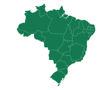 Map of Brazil Vettoriali