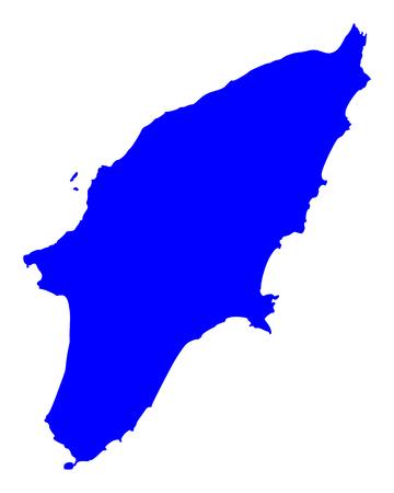 Kaart van Rhodos