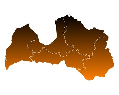 Map of Latvia illustration.