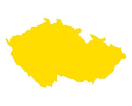 Map of Czech Republic Vector illustration.