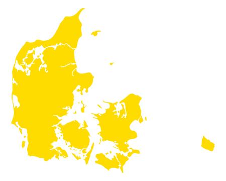 덴마크의지도입니다.