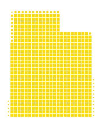 点線マップイラストレーション。