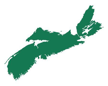 Map of Nova Scotia illustration. Stock Vector - 92071855