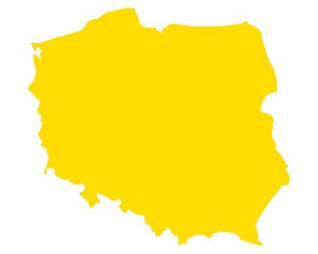 Map of Poland illustration.