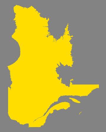 Map of Quebec illustration.