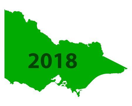 Map of Victoria 2018 illustration. Фото со стока - 92330749