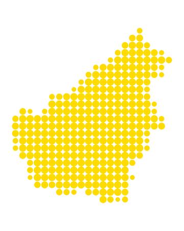 Map of Borneo illustration. 向量圖像