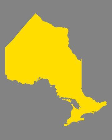 Map of Ontario Иллюстрация