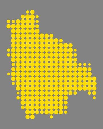 Map of Bolivia Illustration