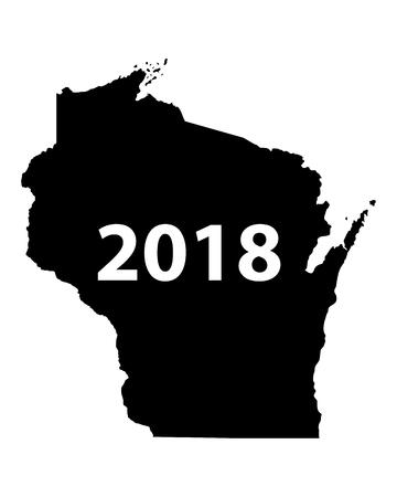 Map of Wisconsin 2018 Illustration