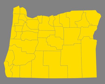 オレゴン州 地図