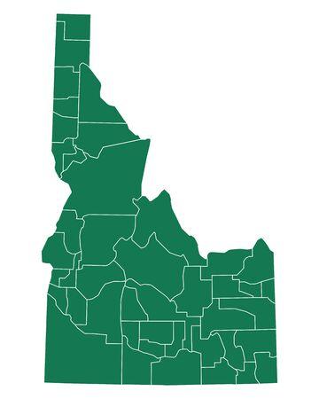 Map of Idaho Vector illustration.