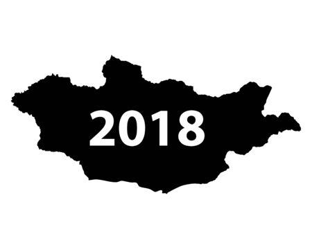 Map of Mongolia 2018