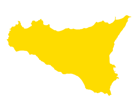 Map of Sicily Vector illustration.