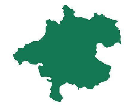 Map of Upper Austria Illustration