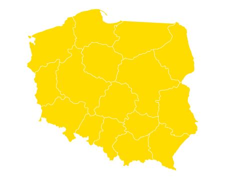 폴란드지도 스톡 콘텐츠 - 92616086