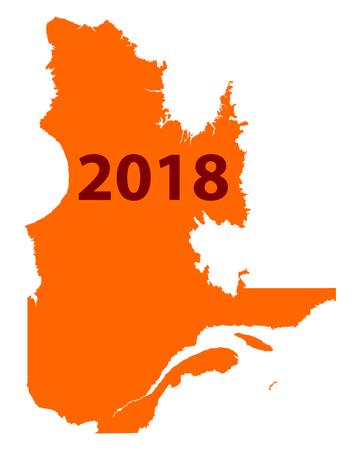 Map of Quebec 2018 Illustration