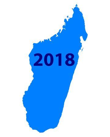 Map of Madagascar 2018 Иллюстрация