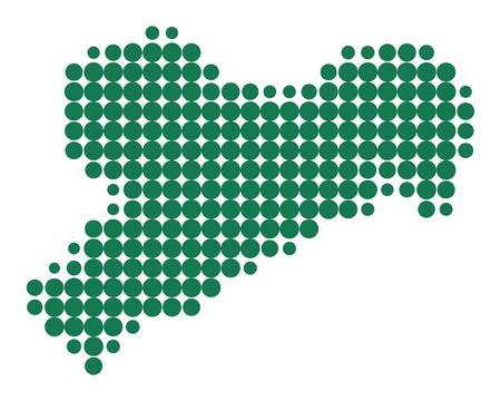 Karte von Sachsen Standard-Bild - 92617686