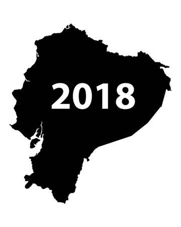 Map of Ecuador 2018