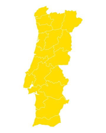 Yellow background formed like a map of Portugal