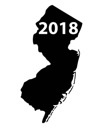 Map of New Jersey icon.
