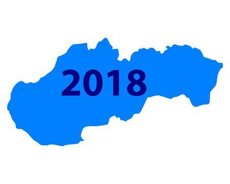 슬로바키아 2018 그림의지도입니다.