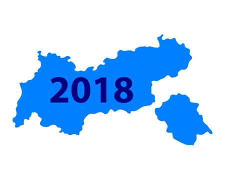 Map of Tyrol 2018 illustration.