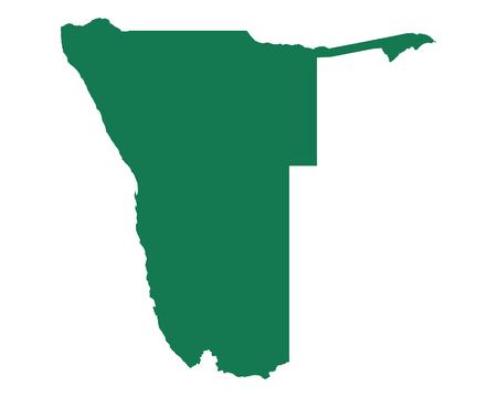 ナミビアのイラストの地図。