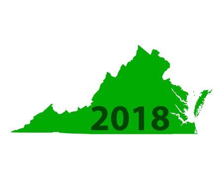 Map of Virginia 2018 Ilustrace