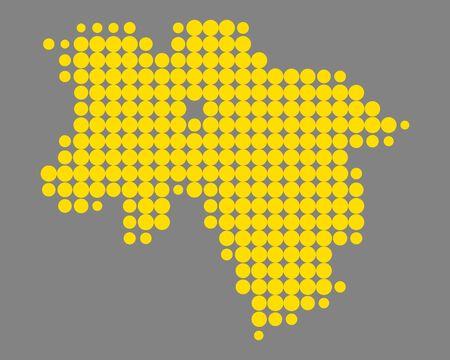 Karte von Niedersachsen Standard-Bild - 92728195