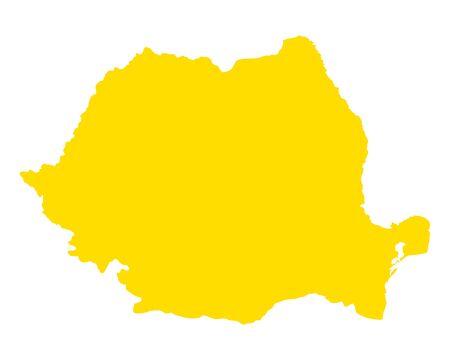 Carte de la Roumanie Banque d'images - 92784314