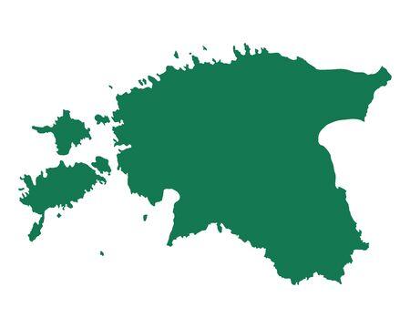 Kaart van Estland Stock Illustratie