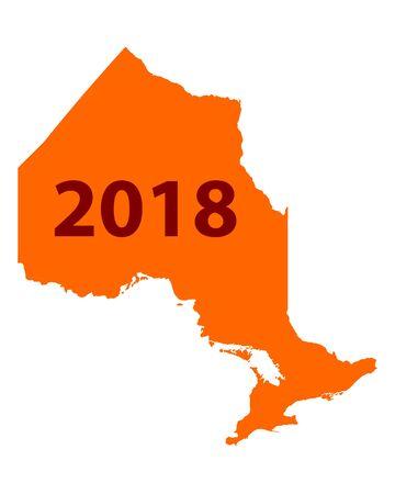 Map of Ontario 2018 Иллюстрация