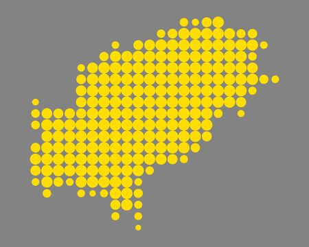 Map of Ibiza vector illustration.
