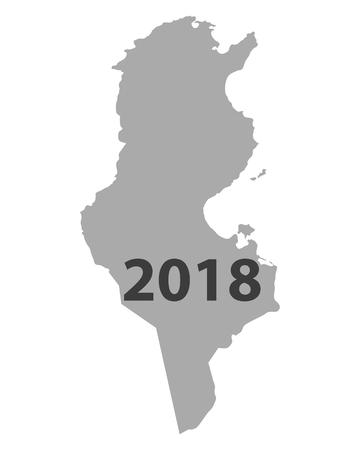 Kaart van Tunesië 2018